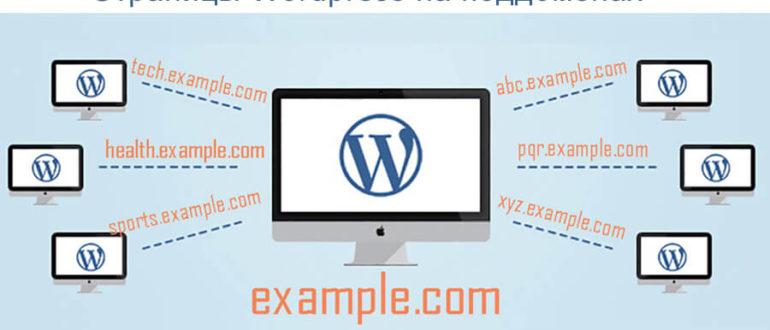 Как выводить страницы Wordpress на поддоменах