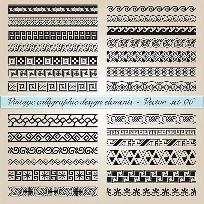 Китайские орнаменты в формате EPS для дизайна скачать бесплатно