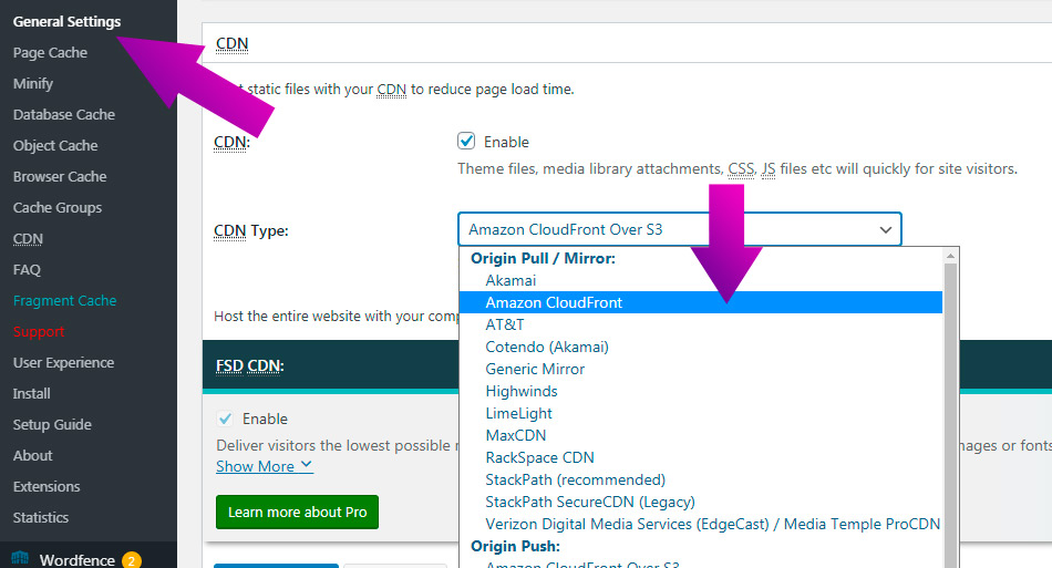 Как подключить CDN CloudFront от Amazon к WordPress в 2021?